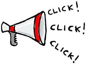 """Megafono che emette """"click"""""""